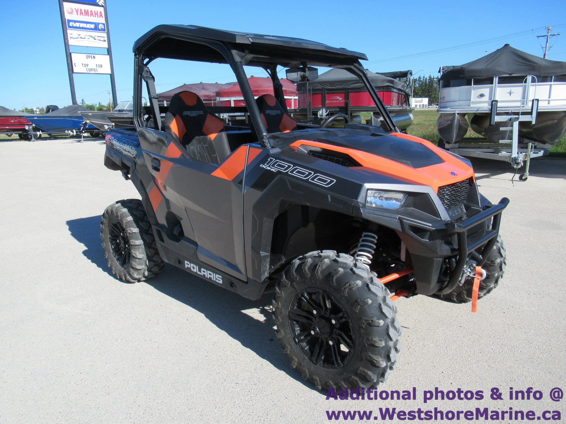 Pre-Owned 2018 Polaris GENERAL 1000 EPS DELUXE TITANIUM METALLIC