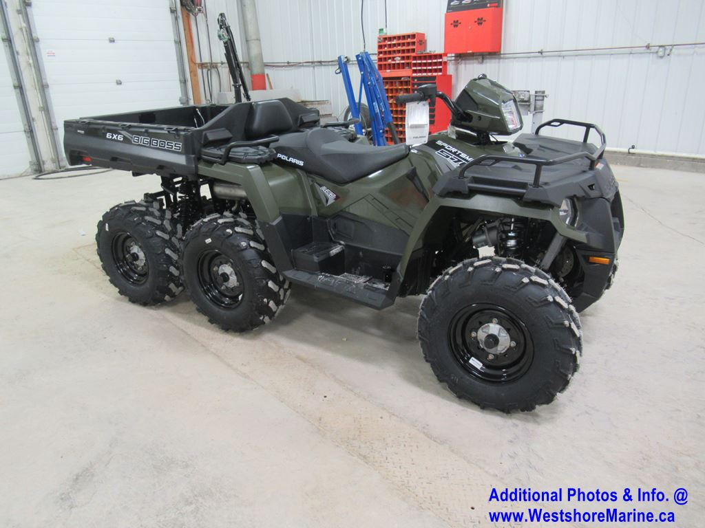 New 2020 Polaris SPORTSMAN 6X6 BIG BOSS 570 EPS SAGE GREEN