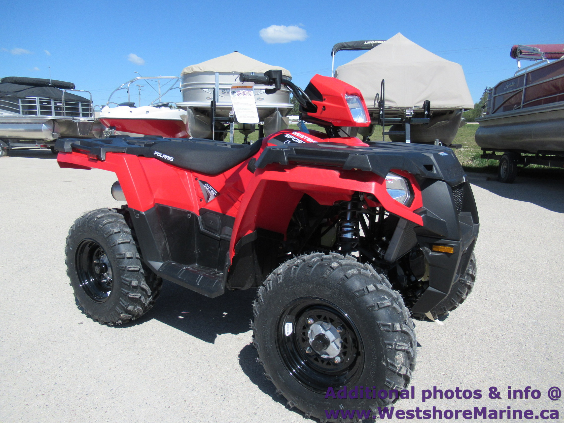 New 2019 Polaris 450 SPORTSMAN HIGH OUTPUT INDY RED & 3 YEAR WARRANTY!