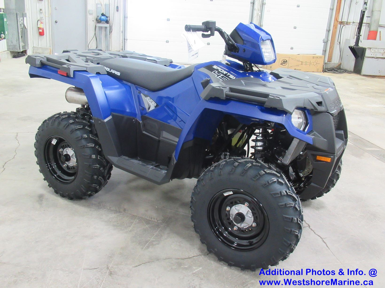 New 2020 Polaris SPORTSMAN 450 H.O. EPS SONIC BLUE