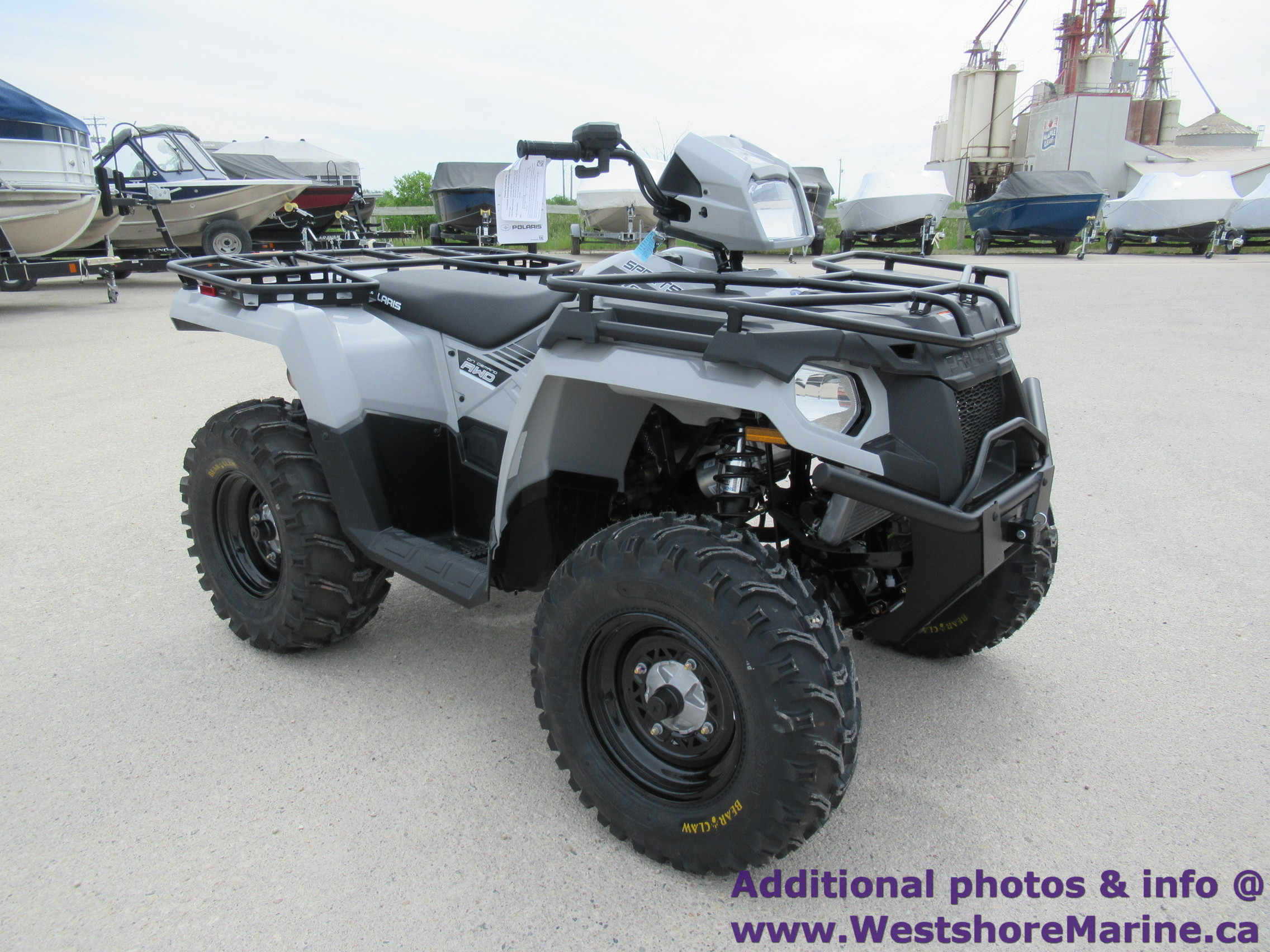 New 2019 Polaris SPORTSMAN 570 UTILITY GHOST GREY W/ EPS & 3 YEAR WARRANTY!